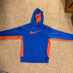 Nike Shirts & Tops - BLUE AND ORANGE NIKE SWEATSHIRT